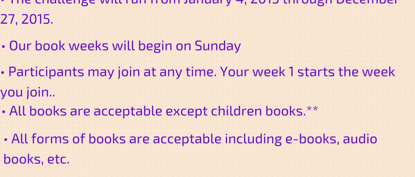 52 Books 52 Weeks